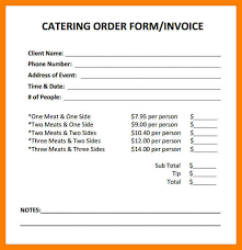 Gallery Of 8 Catering Invoice Samples Fancy Resume Fancy Resume
