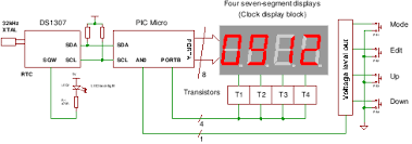 a real time clock design ds a pic microcontroller rtc ds1307 real time clock ic circuit diagram