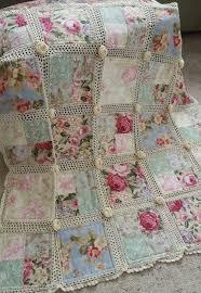Best 25+ Crochet quilt ideas on Pinterest | Crochet quilt pattern ... & Crochet and fabric quilt Adamdwight.com