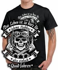 Biker T Shirt Spruch Quad Motorrad Unterschätze Niemals Einen Alten
