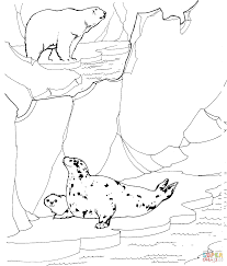 Small Picture Adult Polar Bear Coloring Page Printable Pages Stands On The Hill