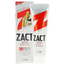 <b>Паста зубная</b> `LION` `<b>ZACT</b>` PLUS <b>Отбеливающая</b> для курящих ...