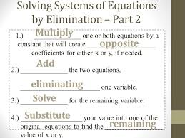 3 solving systems of equations