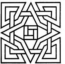 Geometric Square Coloring Pages For Kids Coloringstar