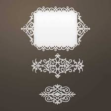 creative expressions und couture creations stamping template filigree frames and ornaments