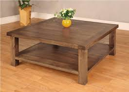 Square Rustic Coffee Table And End Table Sets