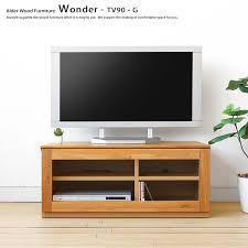 90 cm wide alder wood alder solid wood compact wood tv stand glass door unit