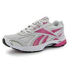 reebok trainers womens. reebok womens pheehan ladies running shoes trainers gym walking sports footwear white/sil/pink