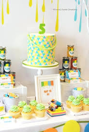 painting party ideas boys neon art themed birthday party food dessert cake ideas pottery painting party