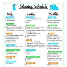 cleaning schedule printable keep your home clean with a printable cleaning schedule
