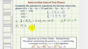 parallel planes equations. ex 2: find the parametric equations of line intersection two planes using vectors - youtube parallel o