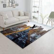 louis vuitton cityscape rug living room