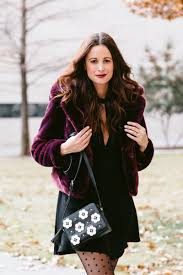 the miller affect wearing a faux fur coat a rebecca minkoff cross and black polka dot tights