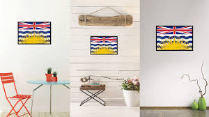 Small Picture British Columbia Province City Canada Country Vintage Flag Home