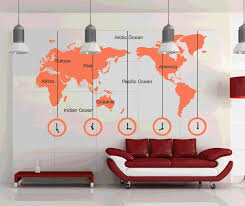 office world map. Aliexpresscom Buy World Map Clock Wall Stickers Removable DIY Decal Living Room Bedroom Wallpaper Office Home Art Mural Poster Multi Color From Reliable A