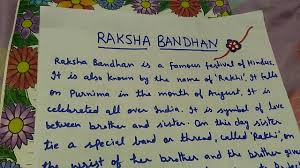 write a paragraph on raksha bandhan in easy words  write a paragraph on raksha bandhan in easy words