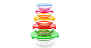 hollar kitchen 10 piece glass bowl lid set only 1