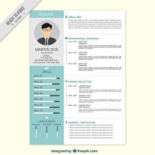 Download Professional Resumes Professional Resume In Flat Style Vector Free Download