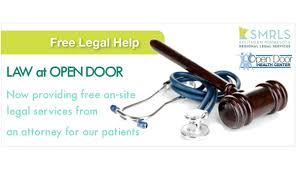 free legal checkups at open door health center