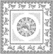 Small Picture Italophile Coloring Pages Dolphin Mosaic 2