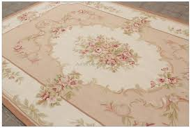 aubusson rug cream pink