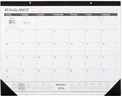 Acco Brands At A Glance Monthly Desk Pad Calendar 2016 2016 Table