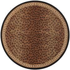 safavieh chelsea leopard black brown round indoor handcrafted lodge area rug common 5
