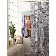 target fabric shower curtains luxury room essentials city sketch shower curtain black opaque