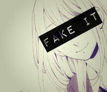 نتیجه تصویری برای anime fake smile  gif