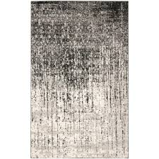 safavieh retro black light grey 3 ft x 4 ft area rug