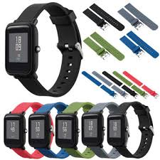 <b>mijobs</b> color silicone replacement <b>strap</b> for xiaomi <b>amazfit bip</b> bit ...