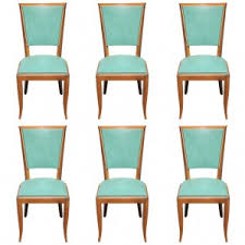 set of 6 french art deco classic style dining chairs circa 1940s art deco dining furniture