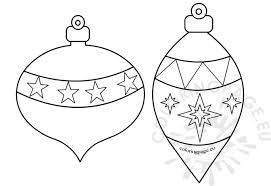 Beautiful christmas tree ornament coloring page: Christmas Ornament Coloring Pages Super Coloring Pages