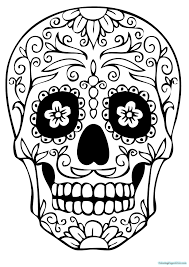 Small Picture Girl Sugar Skull Coloring Pages Coloring Pages For Kids