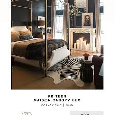 Pb Teen Maison Canopy Bed Copy Cat Chic, PBteen Room Creator ...