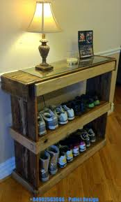 diy pallet shoe storage bench design ideas