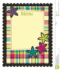 Spring Menu Template Stock Vector Illustration Of Page