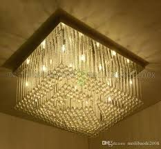 new rectangular led crystal ceiling lamp dining room lights modern creative art lighting chandelier tree