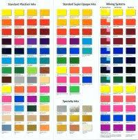 Ink Colors Pantone Chart
