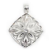 sterling silver charleston magnolia gate pendant at gold creations jewelry