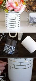 tutorial white brick vase diy white brick vase diy home decor ideas on a budget easy dollar