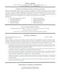 Nursery School Teacher Resume Sample Secondary School Teacher Resume
