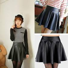 2019 newlady girls faux leather skirt high waist skater flared pleated short mini skirt from xinstar 15 47 dhgate com