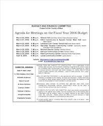 Agenda Sample Format Interesting Template Financial Meeting Agenda Template