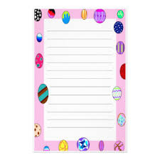 easter stationery painted easter eggs stationery zazzle