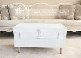 post dear emmeline diy trunk coffee table