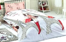 paris themed quilt set bedding twin comforter bedroom
