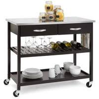 kitchen utility cart. Best Choice Products Mobile Kitchen Island Utility Cart W/ Stainless Steel Countertop, Drawers, O