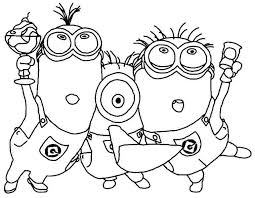 Small Picture Free Minion Coloring Pages Free Background Coloring Free Minion