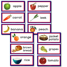 Food Flash Cards Healthy Food Themed Flashcards Primary Treasure Chest